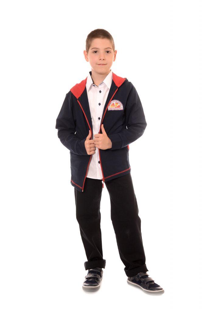 ученически униформи на СУ Д-р Петър Берон град Костинброд модел за момчета 1