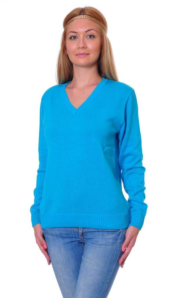 Ученически униформи на ПГИ – Варна светло син пуловер