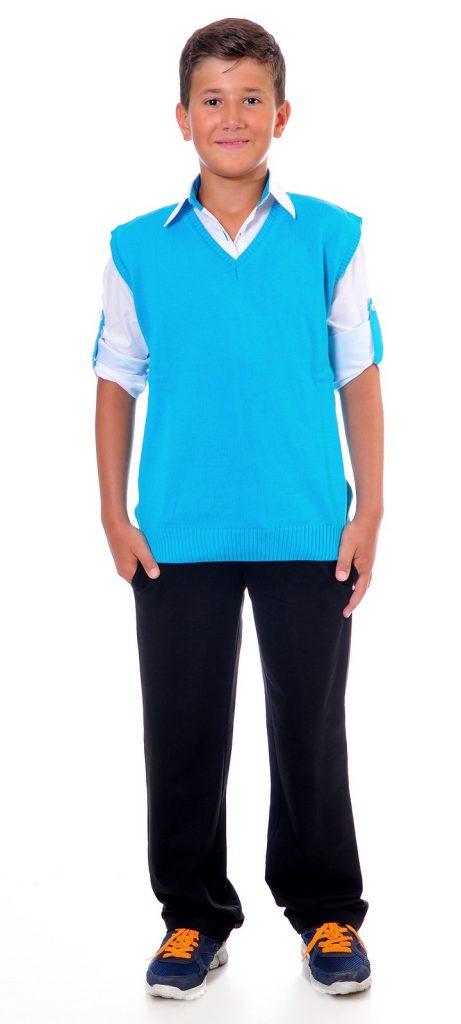 Ученически униформи на ПГИ – Варна дамска цветло син елек