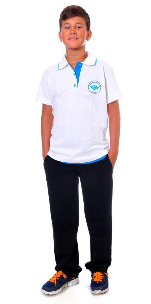 Ученически униформи на ПГИ – Варна бяла блуза с къс ръкав