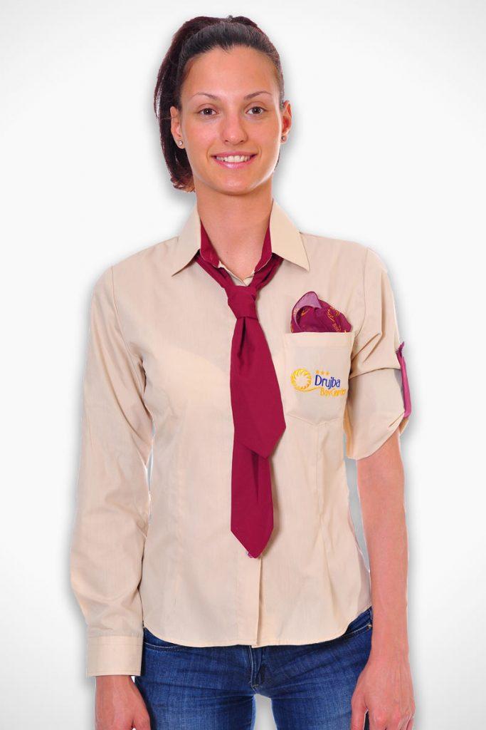 дамска униформа за хотел с вратовръзка