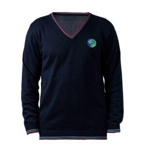 пуловер с дълъг ръкав за училище Британика от ТРЕА поглед отпред