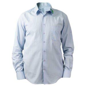 мъжка риза за училище Британика от ТРЕА поглед отпред